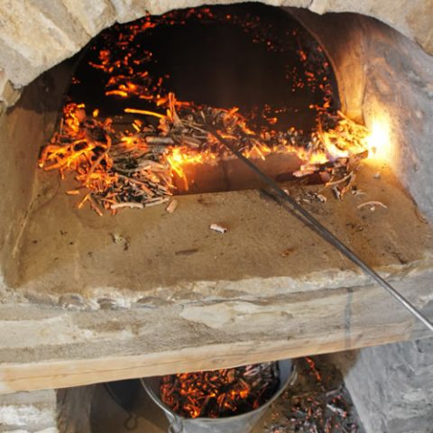 traditional wood fired oven
