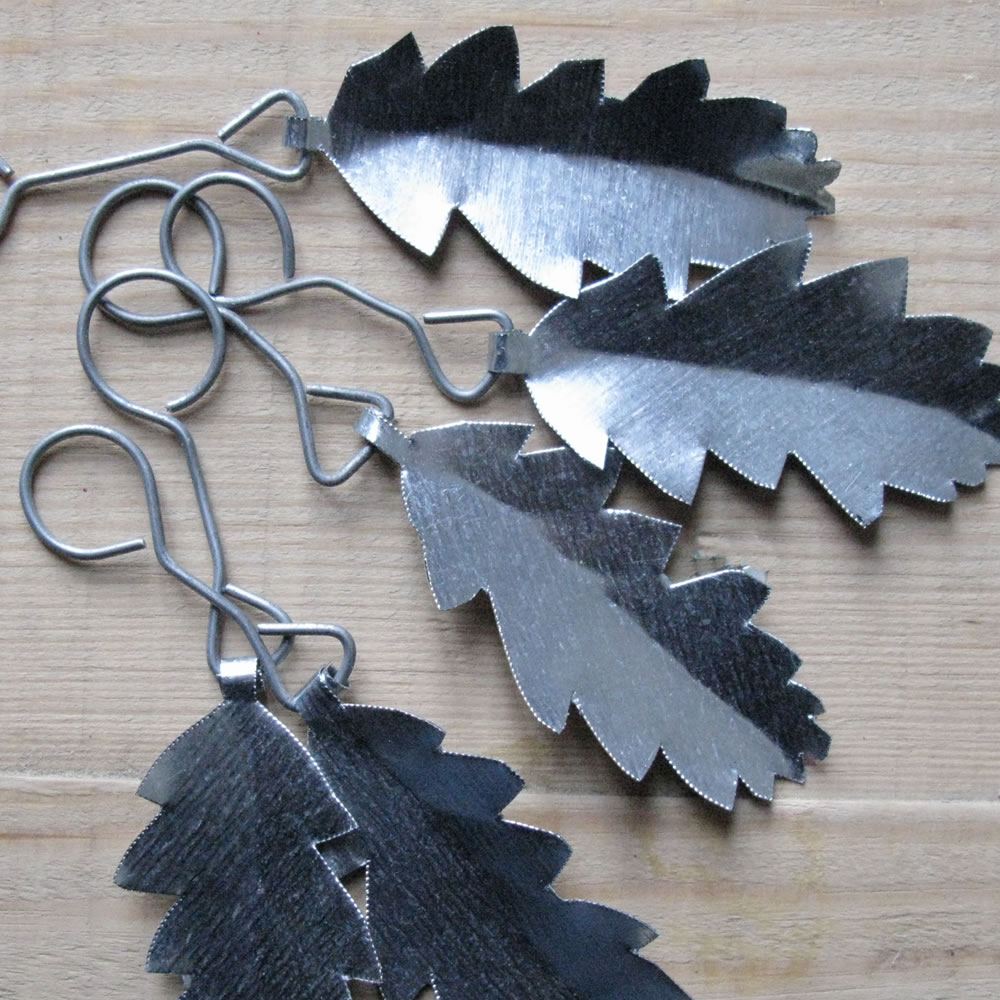 decorative oak leaves made from galvanized metal sheet