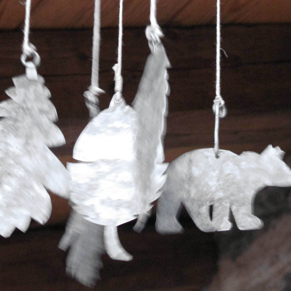 wind chime with forest animals and leaves