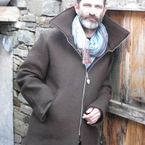 brown felt jacket