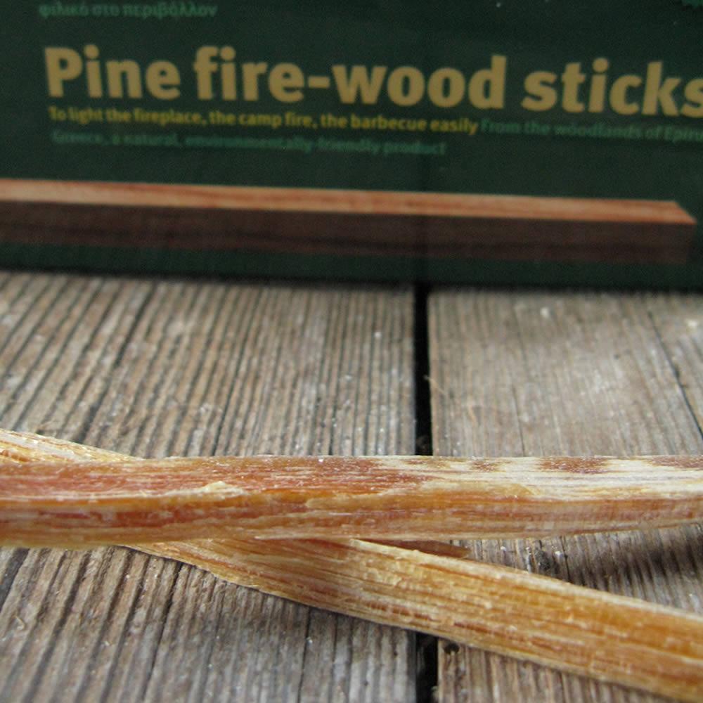 Pine fire-wood sticks