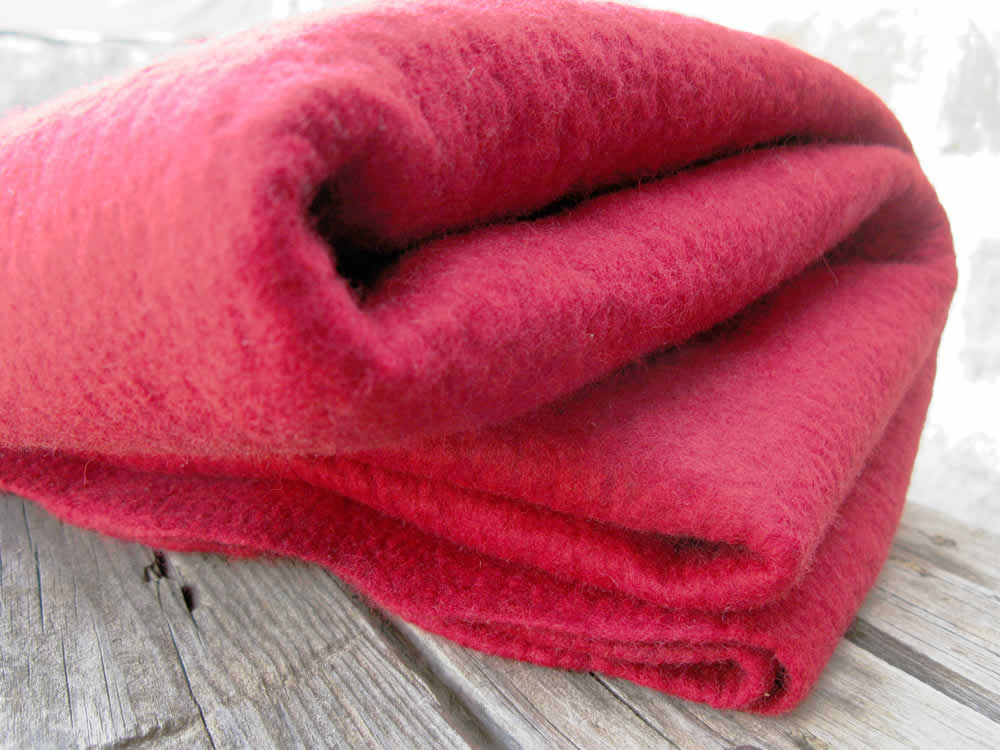 making of the red felt women's jacket