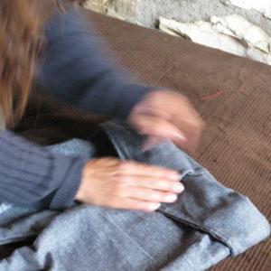 chlidren's blue jean bali pants