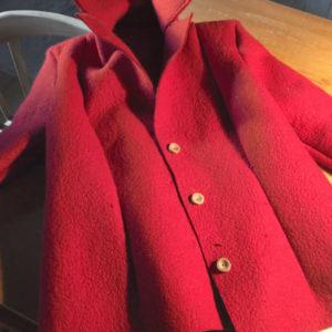 women's jacket in red felt