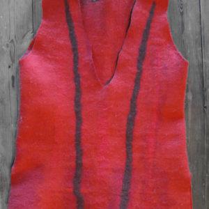 red felt vest