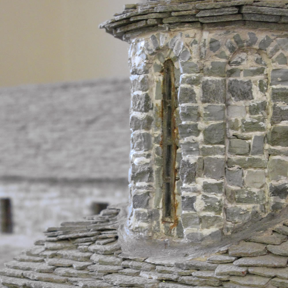 scale models of traditional buildings