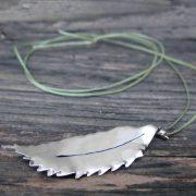 silver chestnut leaf pendant