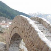 scale model of the single arch stone bridge of konitsa