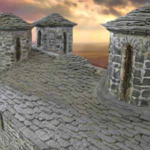 zerma monastery stone scale model