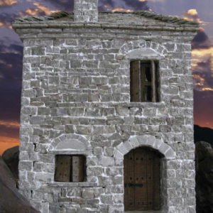 scale traditional stone house in zagori