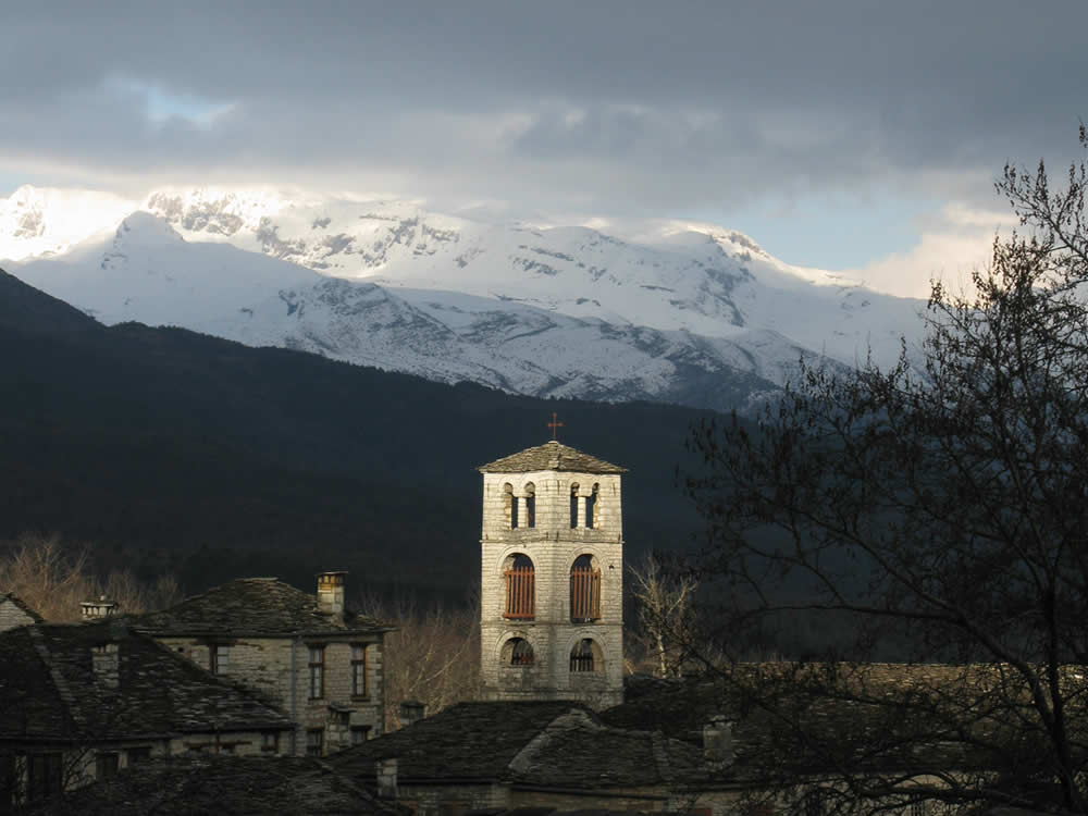 Winter Moments of a Church in Zagori