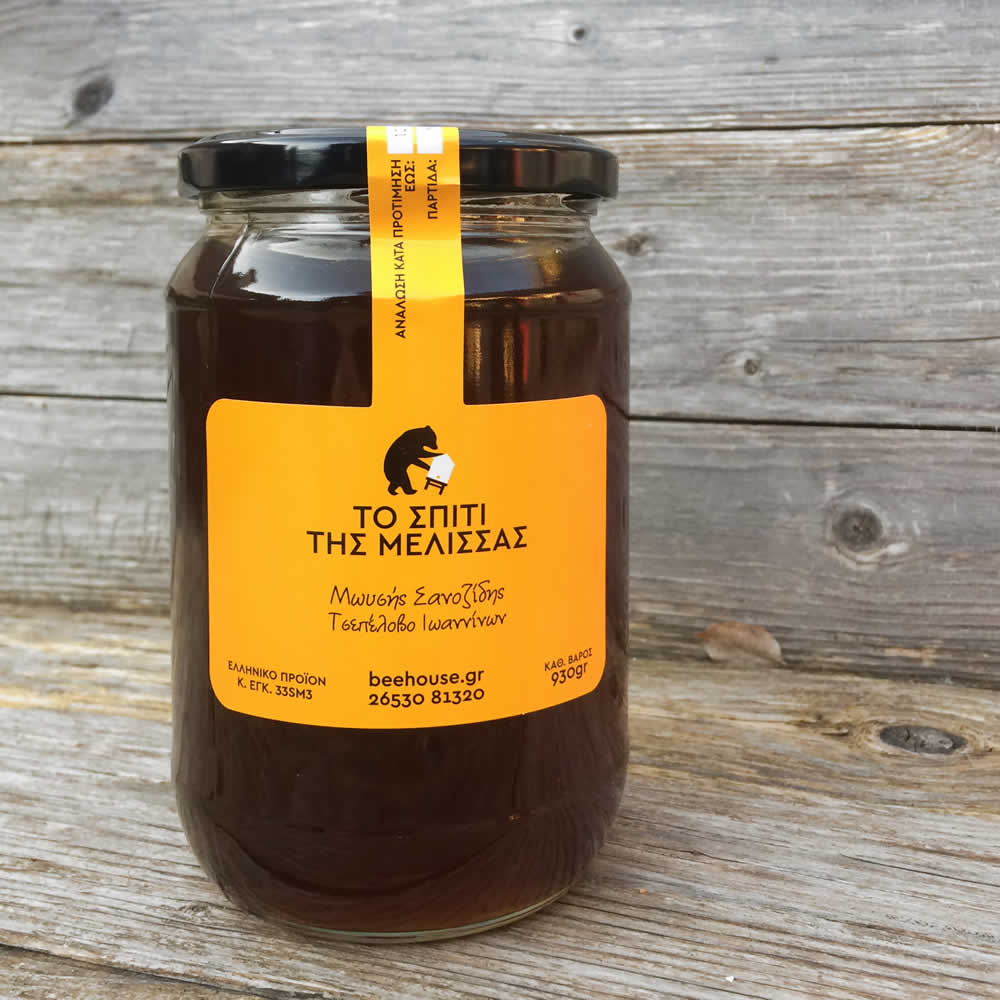Blossom honey from mountain wild wildflowers, which is harvested usually mid August