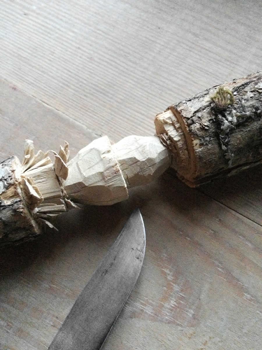 Making of the handmade porcini wooden & silver earrings