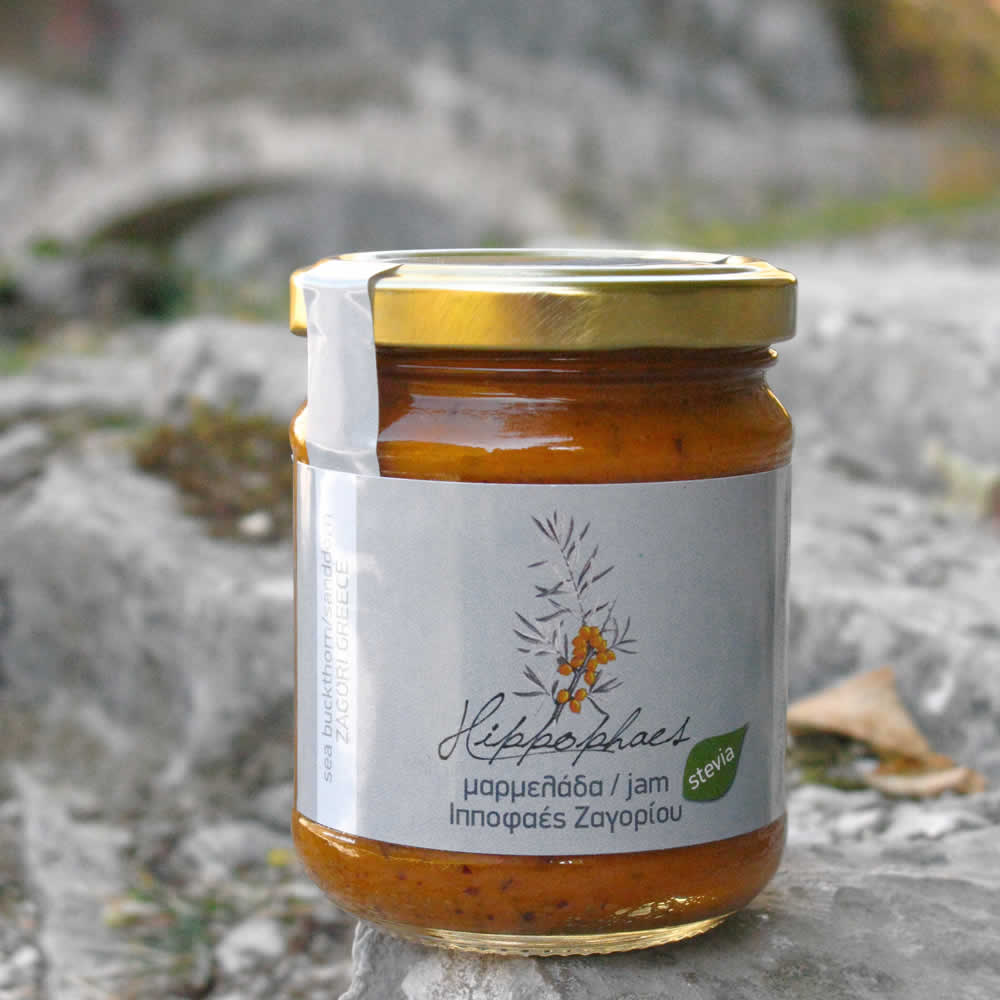 hippophaes jam with stevia natural sweetener